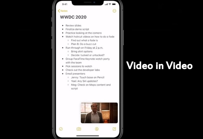 iOS 14 Video in Video